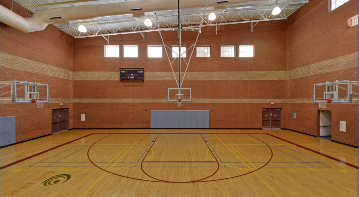Our Basketball Court is huge
