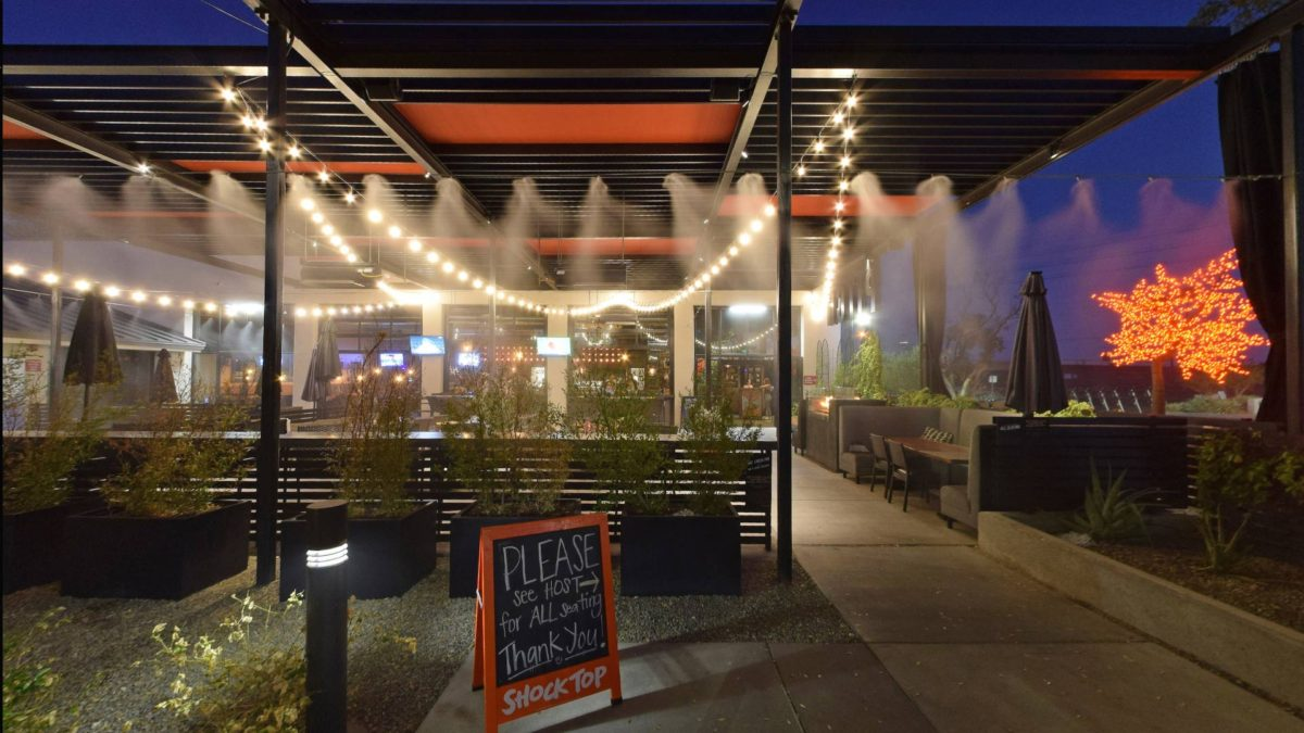 Keep cool on our patio